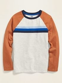 Softest Chest-Stripe Raglan Tee for Boys