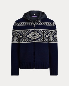 Ralph Lauren Wool-Blend Full-Zip Sweater