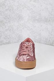 Forever21 Crushed Velvet Low-Top Sneakers