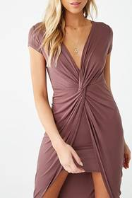 Forever21 Twist-Front High-Low Dress