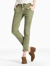 Lucky Brand Sienna Mid Rise Utility Pant In Army G