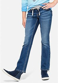 Justice Knit Waist Bootcut Jeans