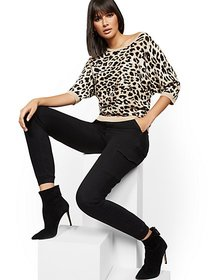Leopard-Print Dolman Sweater - New York & Company