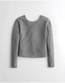 Hollister Twist-Back Top, GREY