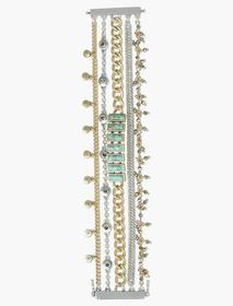 Lucky Brand Pave Turquoise Lucky Layer Bracelet