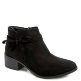 NINE WEST Girls Side Bow Block Heel Booties