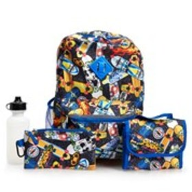 CUDLIE Boys 5-Piece Skateboard Print Backpack & Lu