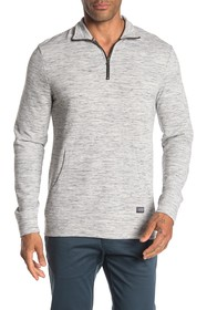 Heritage Long Sleeve Space Dye Textured Quarter Zi