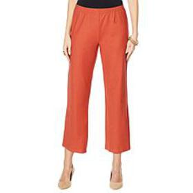 Wynne Layers Straight Cropped Crepe Pant
