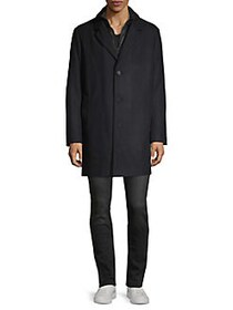 DKNY Double Layer Car Coat OLIVE