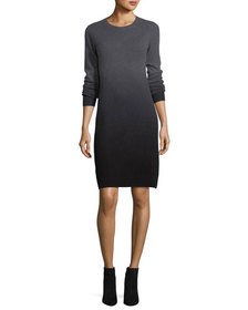 Neiman Marcus Dip-Dyed Cashmere Sweaterdress