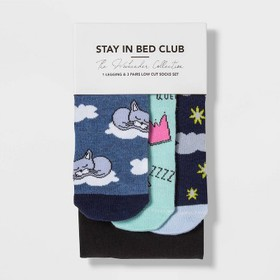 "Women's Socks and Leggings Set ""Stay in Bed Club"""