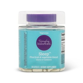 Melatonin Sleep Dietary Supplement Capsules - 120c