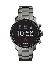 Fossil Q Explorist HR Generation 4 Smoke Stainless
