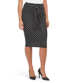 CATHERINE MALANDRINO Tie Front Pull On Skirt