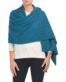 TAHARI Cashmere Cable Travel Scarf