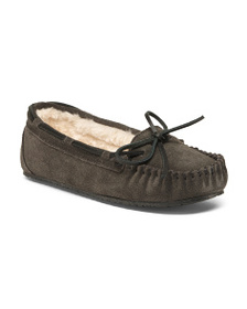 MINNETONKA Suede Allie Junior Trappers