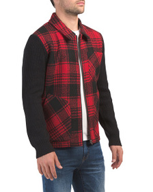 FRENCH CONNECTION Hunting Check Wool Blend Sweater