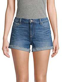 Paige Jeans Buttoned Denim Shorts APPA