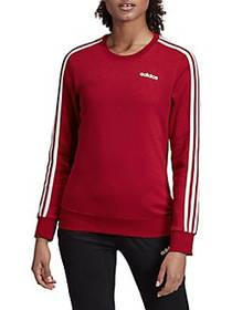 Adidas Three-Stripe Crewneck Fleece Sweatshirt ACT