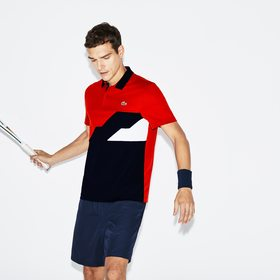 Lacoste Men's SPORT Colorblock Bands Technical Piq