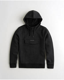 Hollister Active Utility Hoodie, BLACK