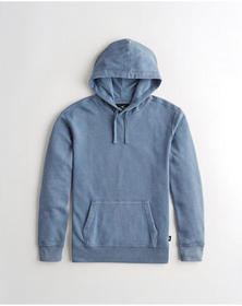 Hollister Pullover Hoodie, WASHED BLUE