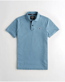 Hollister Stretch Polo, BLUE