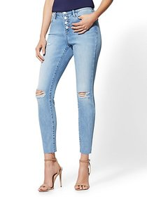 High-Waisted Super-Skinny Ankle Jeans - New York &