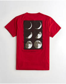 Hollister Print Graphic Tee, RED