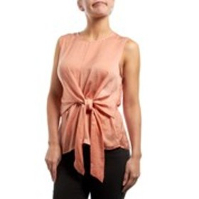 HARVE BENARD Sleeveless Satin Side-Knot Top