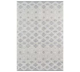 Pottery Barn Theros Recycled Material Rug - Gray