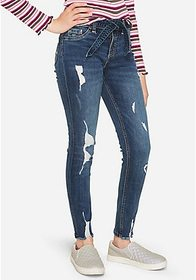 Justice Destructed Belted High Rise Jeggings