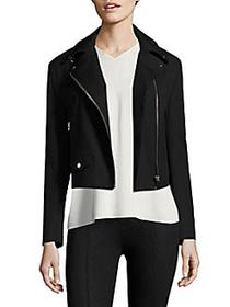 Helmut Lang Cropped Biker Jacket BLACK