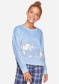 Justice Sleepy Unicorn Fleece Pajama Top