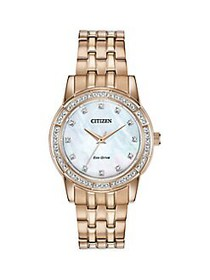 Citizen Silhouette Crystal Rose Goldtone Stainless