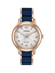 Citizen Drive Rose Goldtone Stainless Steel Eco-Dr