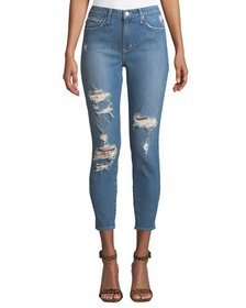 Lovers And Friends Mason Distressed Mid-Rise Skinn