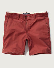 A&F Preppy Fit Shorts, Red