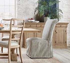 Pottery Barn PB Comfort Roll Slipcovered Dining Ch