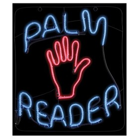 "23 ""Halloween Palm Reader Glow Light Sign"