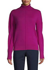 Chloé Mockneck Cashmere & Wool Sweater PURPLE