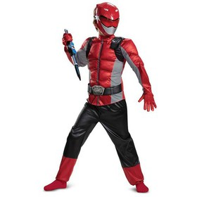 Boys' Red Power Ranger Beast Morpher Classic Muscl