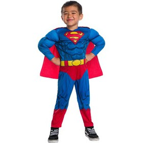 Toddler Boys' Justice League Superman Muscle Delux