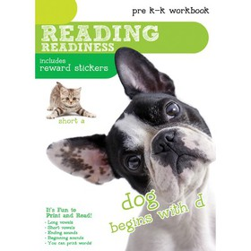 8pk Reading Readiness Workbooks with Stickers - Pr