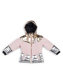Betsey Johnson Little Girl's Metallic Hooded Jacke
