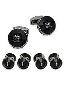 Tateossian Three-Pair Crystal Button Cufflinks BLA