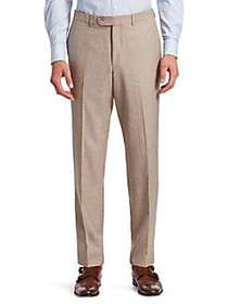 Saks Fifth Avenue COLLECTION Flat-Front Trousers T