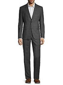 Versace Collection Modern-Fit Plaid Stretch Wool S