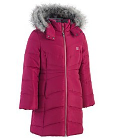 Calvin Klein Big Girls Aerial Hooded Jacket with F